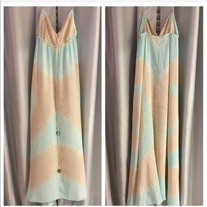 Gypsy 05 - Washed Silk Tie Dye Maxi Dress Size S
